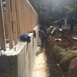 Foundation of New Construction Site