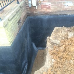 Trench and Waterproofing Foundation Barrier