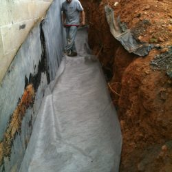 Trench for Home Foundation Protective Barrier