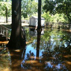 Flooded Home Backyard