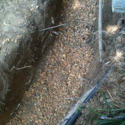 Gravel in Bottom of French Drain