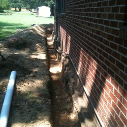 Preparing Trench for a French Drain