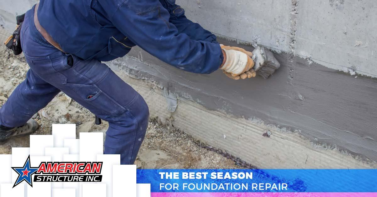 Worker Performing Foundation Crack Repair