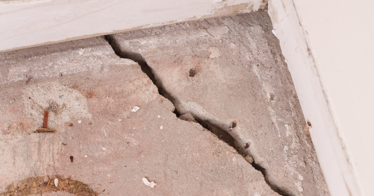Foundation Crack in the Corner of a Home