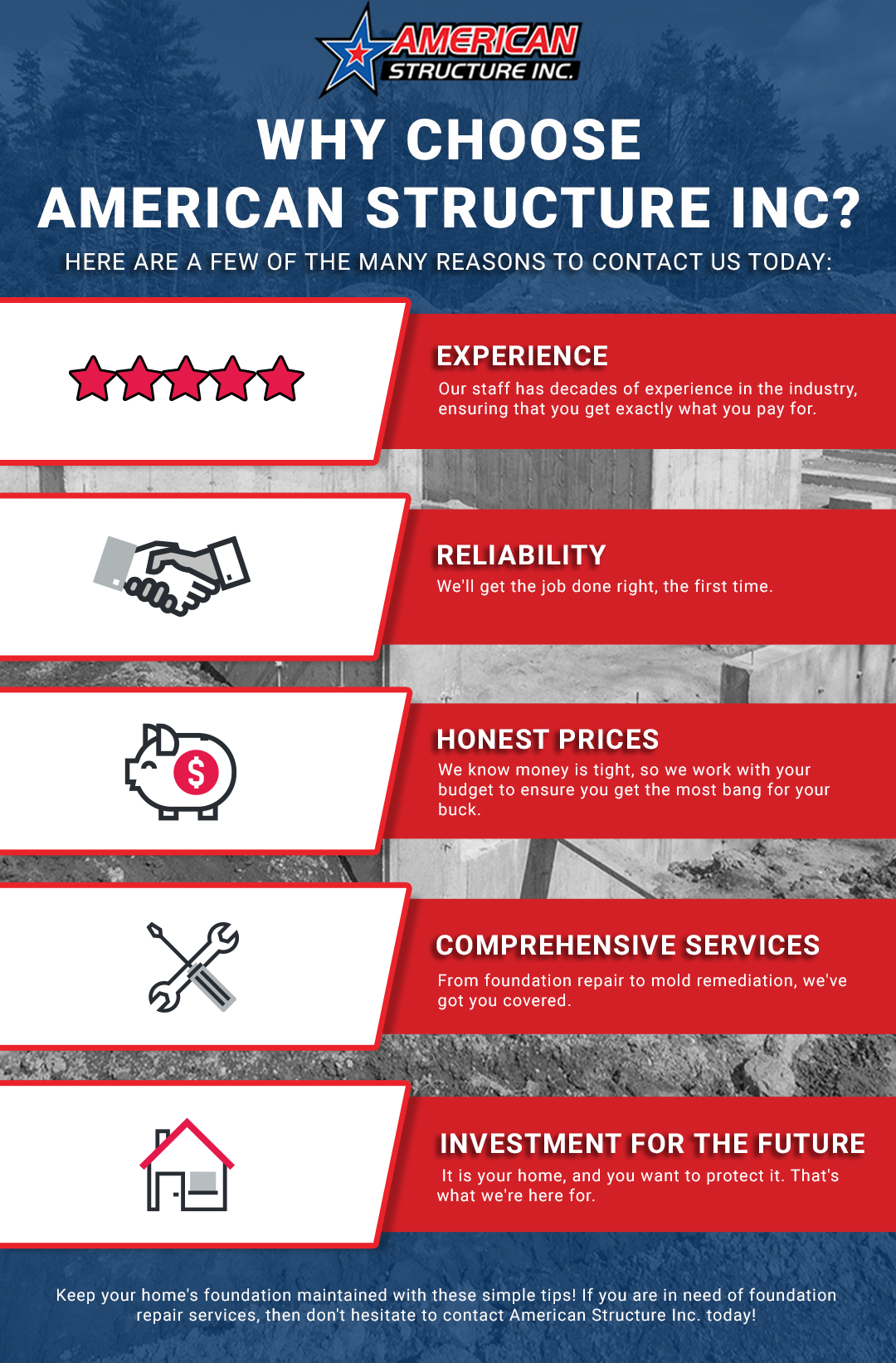 Why Choose American Structure Inc. Infographic
