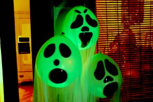 glow stick balloon ghosts