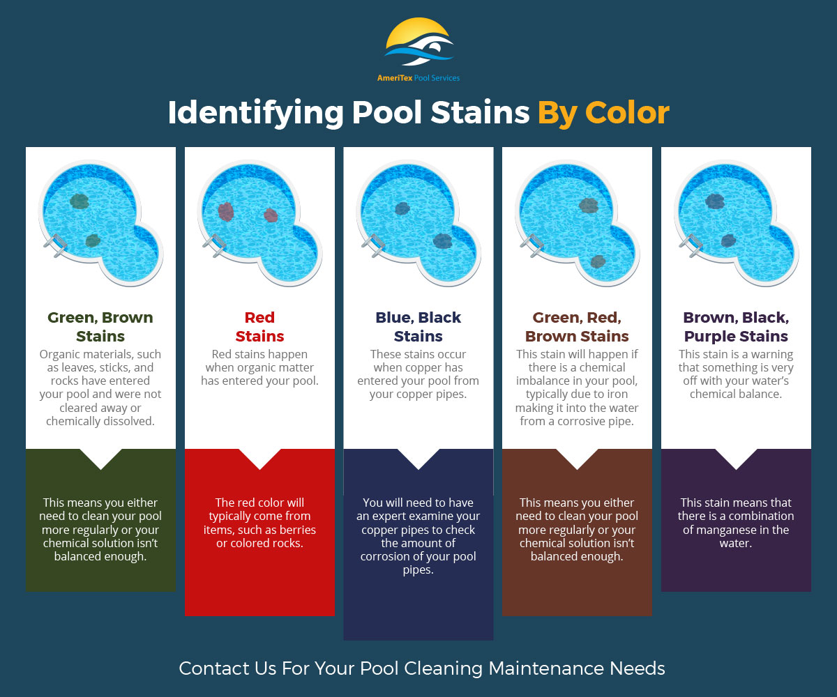 Identifying Pool Stains By Color Infographic