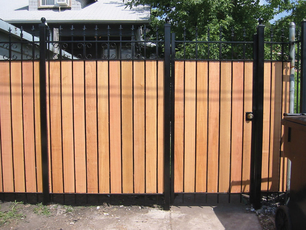 Wrought iron fences chicago gate illinois