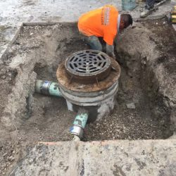 Sewer repair and asphalt sealcating in Bridgeview by American Sealcoating & Maintenance