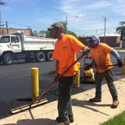 American Sealcoating & Maintenance always works hard at sealcoating and asphalt paving