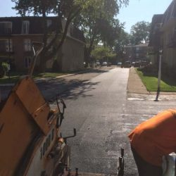 Progress on an asphalt driveway here in Bridgeview