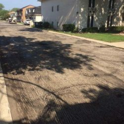 A before picture of asphalt paving in Bridgeview