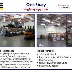 Warehouse lighting retrofit solution