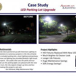 Safer Brighter Parking Lot LED Lights