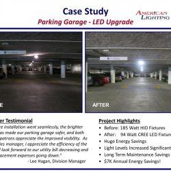 American Lighting LED Parking Garage Installer