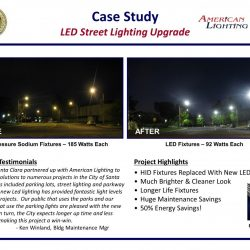 LED Street Lighting Upgrade Contractor Installed