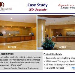 Hotel Lobby LED Lighting Retrofit Upgrade