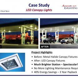 Gas Station Canopy LED Lighting Upgrade