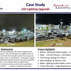Bright Car Lot LED Lighting Upgrade With Savings