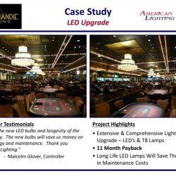 Casino Lighting LED retrofit Upgrade