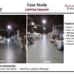 Commercial Warehouse LED Lighting upgrade retrofit