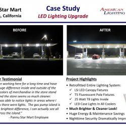 Gas station LED lighting canopy upgrade