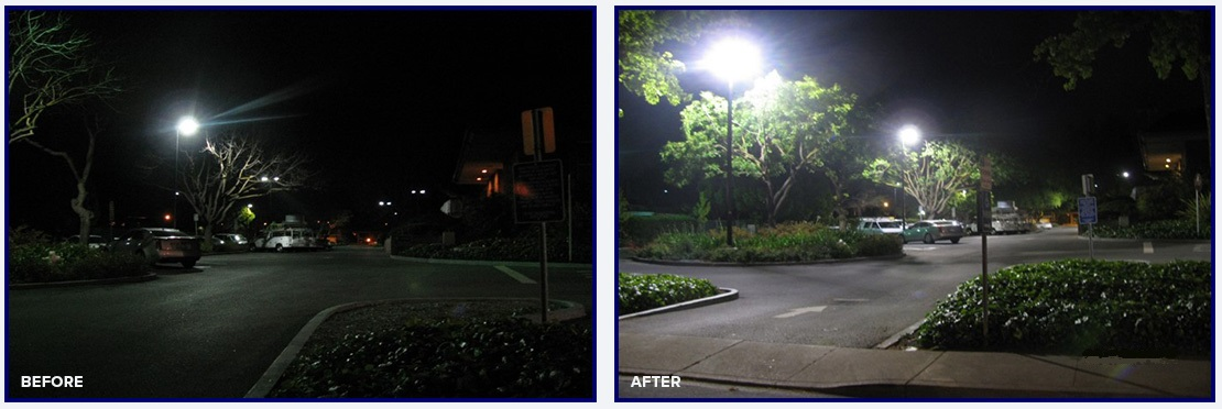 Commercial Lighting Parking Lot Energy Saving Retrofit