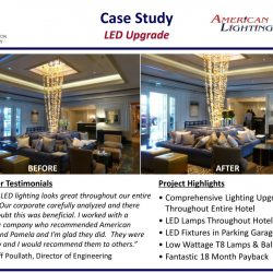 Large Hotel Project Lighting Contractor California