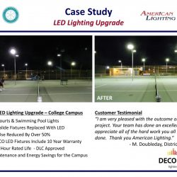 LED Tennis Court Lighting Upgrade