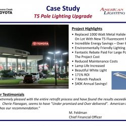 Car Dealership Lighting Energy Savings Upgrade