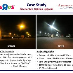 Parking Lot lighting Installation with Rebates