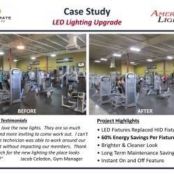 Fitness Center Lighting Contractor Retrofit