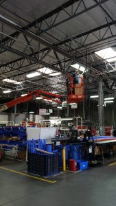 American Lighting retrofits Highbay warehouse Lights
