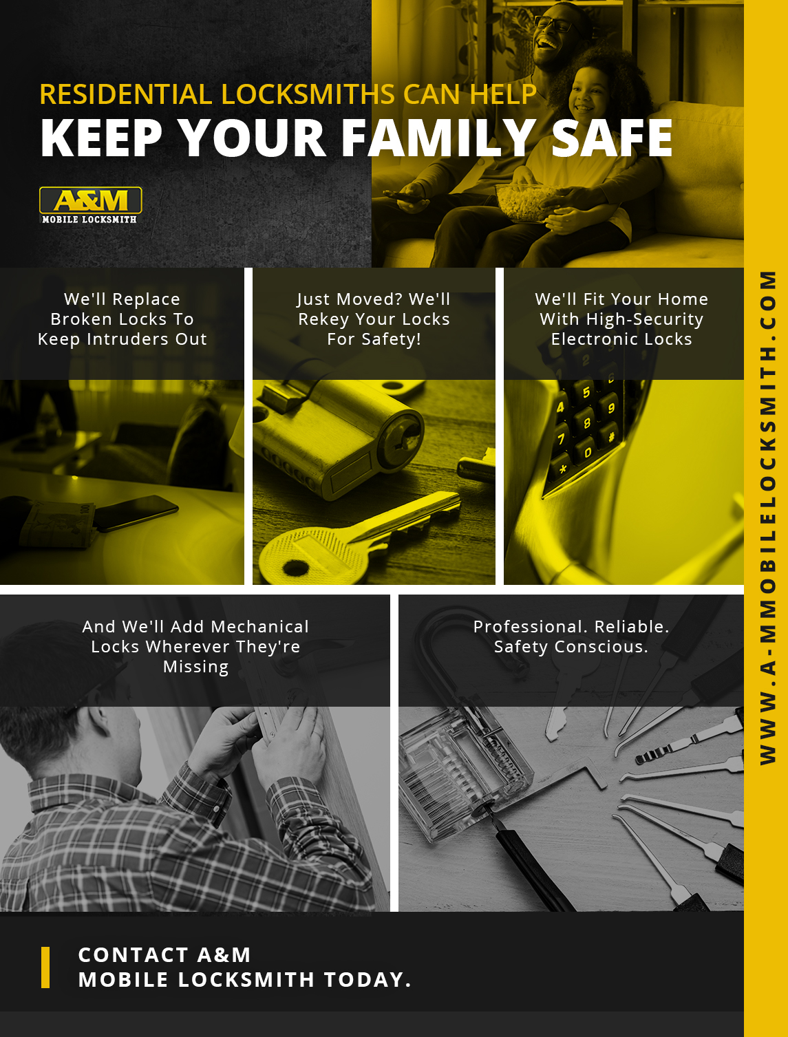 Infographic: Residential Locksmiths Can Help Keep Your Family Safe