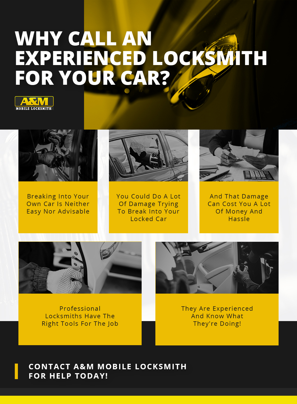 Infographic: Why Call An Experienced Locksmith For Your Car?
