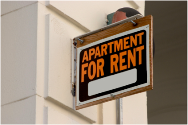 Sign for apartment for rent