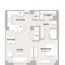 The Star Downtown Houston Apartment 1 bedroom, 1000ft² floorplan