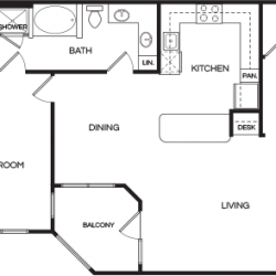 Pear at the Mix 1 bedroom, 1143ft² floorplan