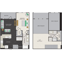 Midtown Houston By Windsor Apartment 1 bedroom, 1145ft² Floorplan