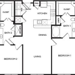 Pear at the Mix 2 bedroom, 1171ft² floorplan