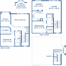 Camden Midtown Apartment 2 bedroom, 1342ft² floorplan