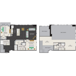 Midtown Houston By Windsor Apartment 2 bedroom, 1690ft² Floorplan