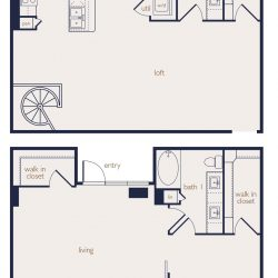 Eighteen25 Downtown Houston Apartment 2 bedroom, 1751ft² floorplan