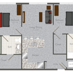 Pearl at the Mix 2 Bedroom Apartment, 800ft²