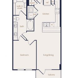 Eighteen25 Downtown Houston Apartment 1 bedroom, 732ft² floorplan²