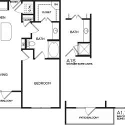 Pear at the Mix 1 bedroom, 739-800ft² floorplan