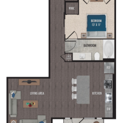 Alexan Downtown Houston Apartment Studio, 793ft² Floorplan