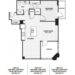Skyhouse Main Downtown Houston Apartment 1 bedroom, 857ft² floorplan