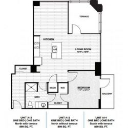 Skyhouse Main Downtown Houston Apartment 1 bedroom, 899ft² floorplan