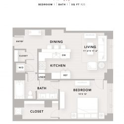 The Star Downtown Houston Apartment 1 bedroom, 925ft² floorplan